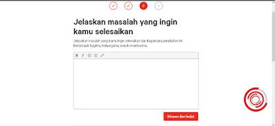 Selanjutnya jelaskan masalah yang ingin kalian selesaikan dengan petisi yang kalian buat di change.org, setelah itu pilih Simpan dan lanjut