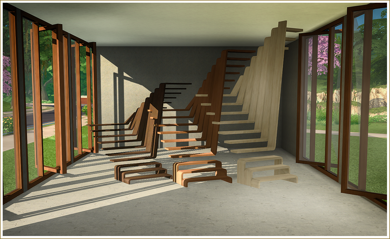 My Sims 4 Blog: Pivoting Windows And Sculptural Stairs