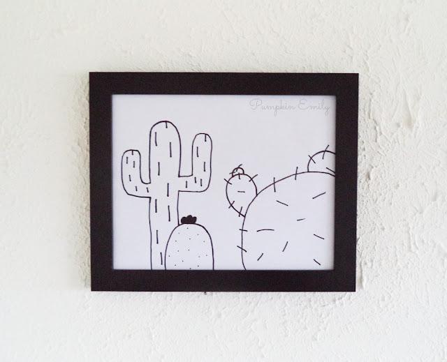 DIY Cactus Frame Art
