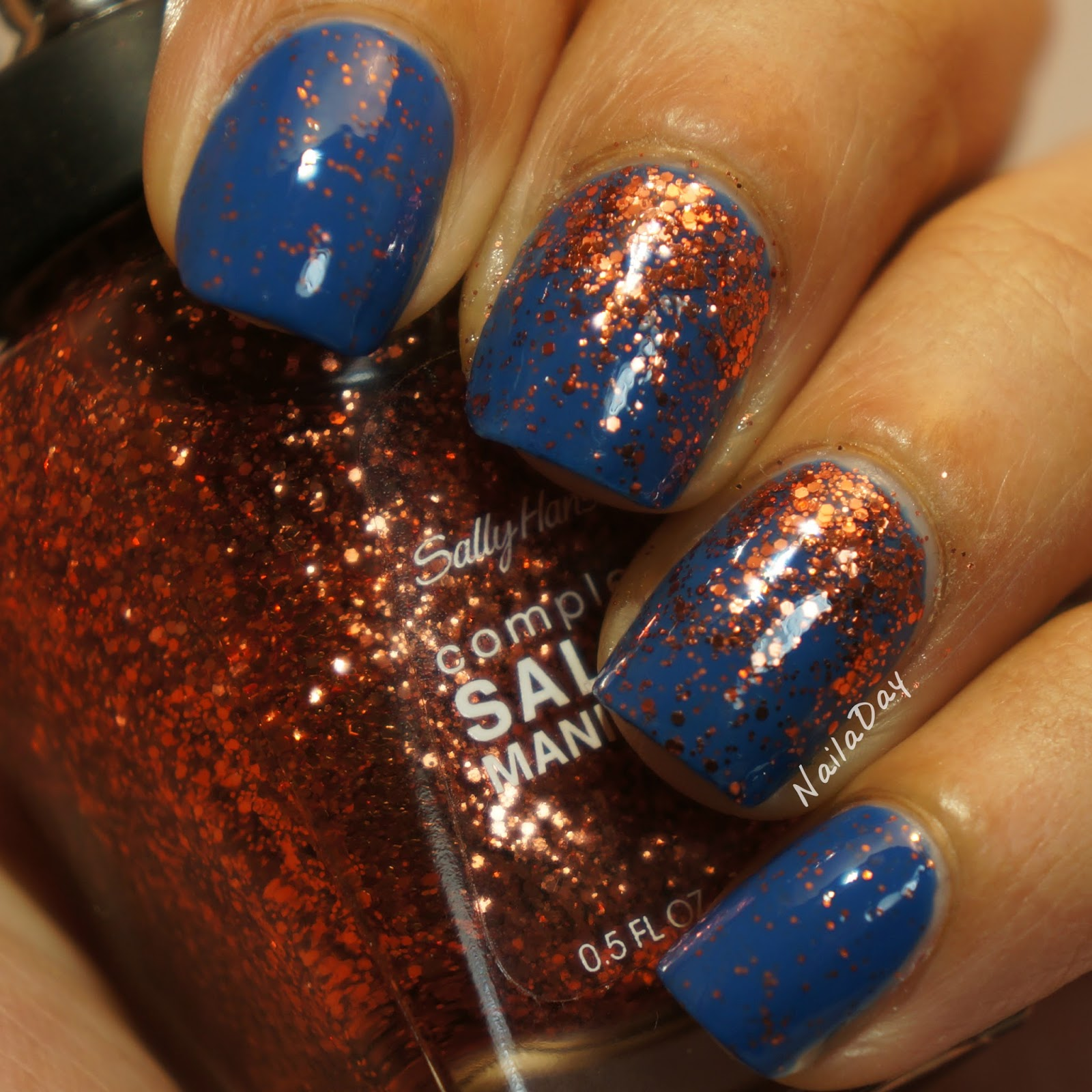 Nail a Day: Barielle Falling Star with Sally Hansen CSM Copper Penny