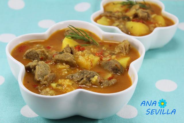 Caldereta de cordero con patatas Ana Sevilla cocina tradicional
