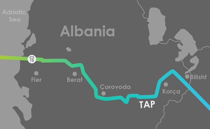 The physical construction of TAP pipelines begins in March