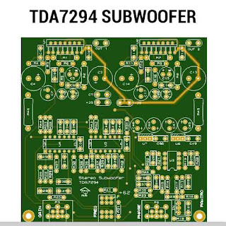 TDA7294 subwoofer amplifier PCB layout