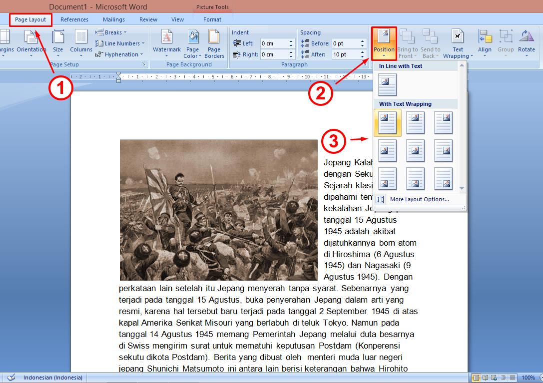 Cara Membuat Tulisan Di Word Menjadi 2 Bagian Berbagai Bagian Penting
