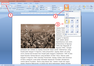 Cara Membuat Agar Posisi Gambar di Samping Teks MS Word