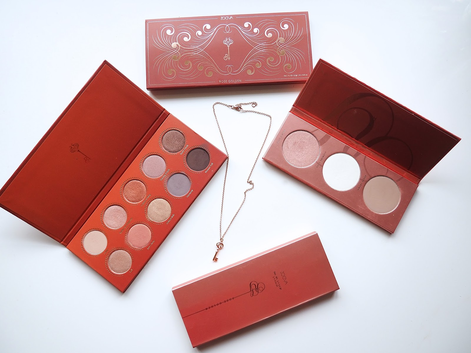 Zoeva Rose Golden Blush Palette and Eyeshadow Palette
