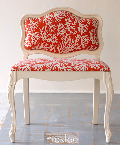 Upholstered Coral branch Chair