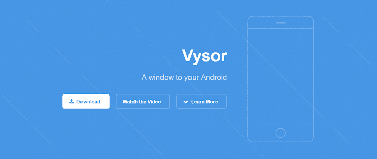 Vysor app to control Android smartphones
