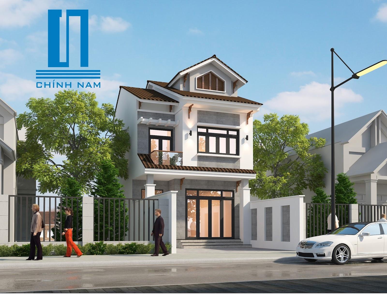 Thiết kế nhà phố chị Hoa ở P. Tân Hiệp - Biên Hòa - Đồng Nai