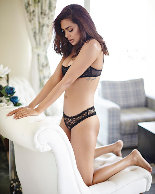 Esha Gupta Turns Seductress in Sexy Lingerie