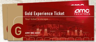 AMC Gold Experience Movie Tickets 1199 After 4 Off Limit Of Ten 2 Packs Per Costco Member