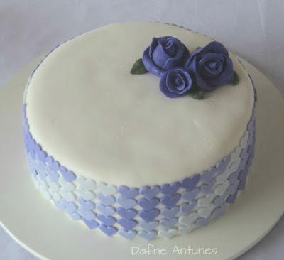 Ombré Heart Cake fondant