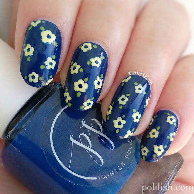 Delicate floral print nail art | polilish