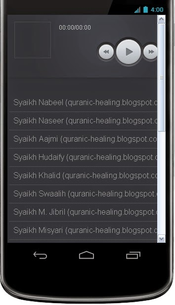 Aplikasi Android Ruqyah Audio MP3