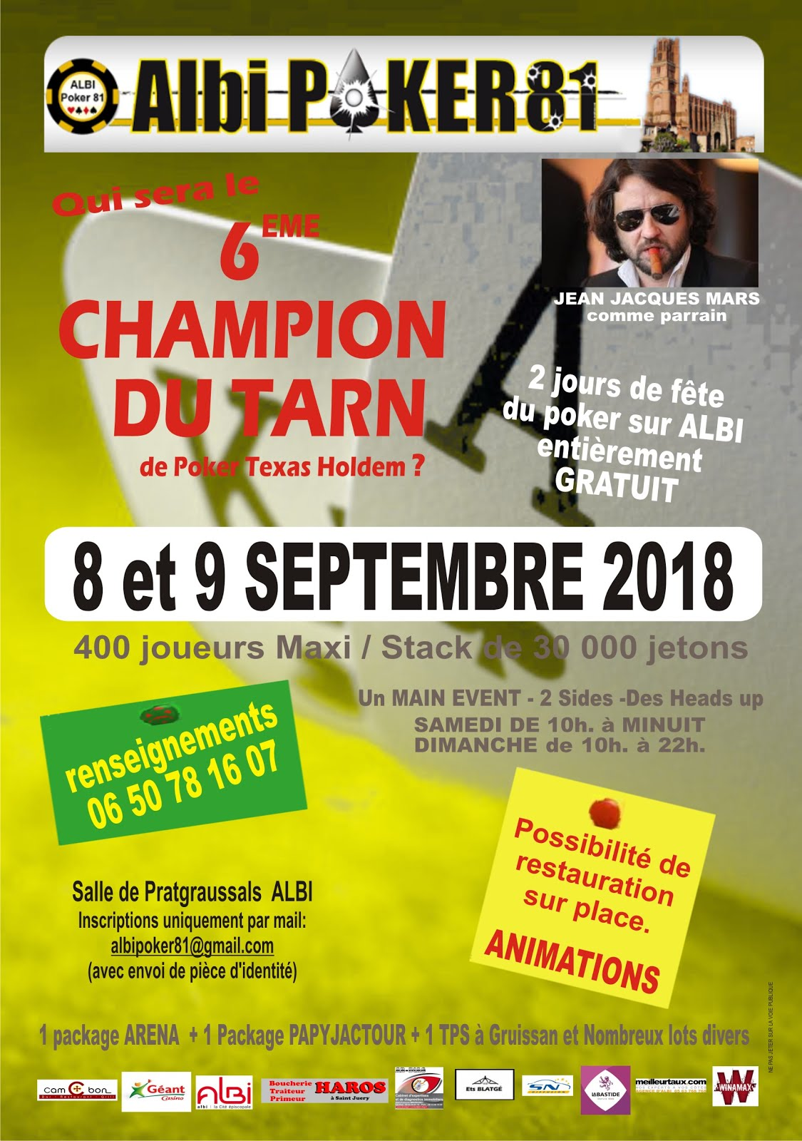 "Tournoi Freeroll ""Champion du Tarn"" 2018"