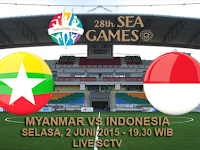 Myanmar vs Indonesia U23 SEA Games 2015