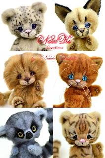 NatalKa Creations, Clemens Spieltiere, artist teddies, artist toys, Kuscheltiere, Plüschtiere, Stofftiere, teddies with charm, Natalie Lachnitt, мишки тедди, друзья тедди