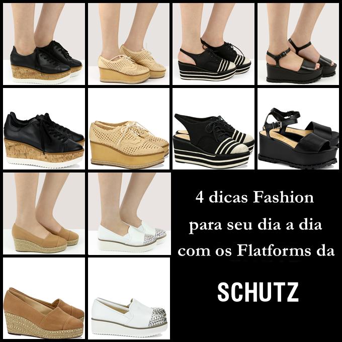 4 dicas Fashion para seu dia a dia com os Flatforms da Schutz