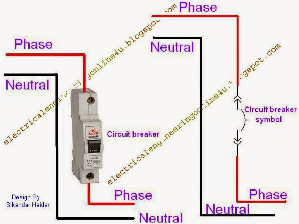 Outlet Wiring Diagram On Power Circuit Breaker Box Gfci Schematic