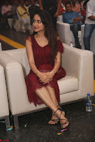 Pragya Jaiswal in Stunnign Deep neck Designer Maroon Dress at Nakshatram music launch ~ CelebesNext Celebrities Galleries 099.JPG