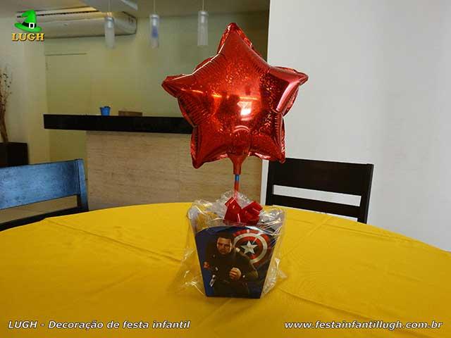 Super-Heróis - enfeites de centro de mesas para aniversário