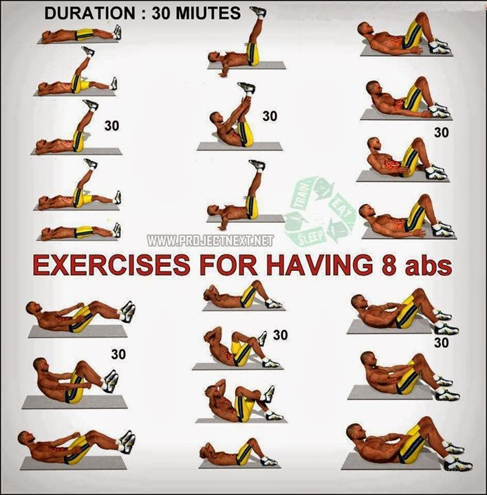 Exercises For Having 8 Pack Abs Fitness Inspiration