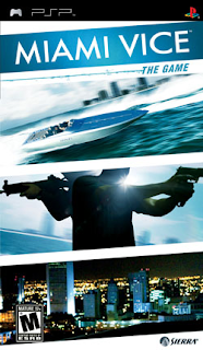 Portada del videojuego para PSP, Miami Vice: The Game desarrollado por Rebellion Developments en 2006