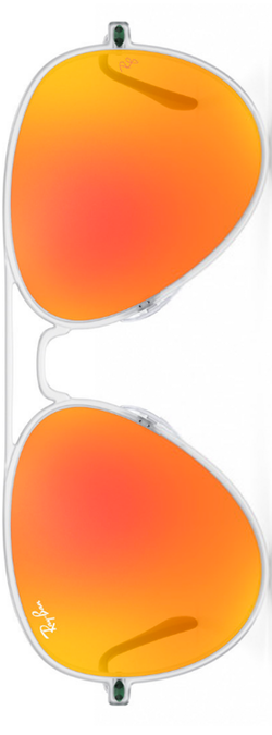 Ray-Ban Aviator Light Ray Orange Mirrored
