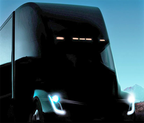 2018 tesla semi truck. beautiful truck another tesla semi truck teaser for 2018 semi