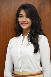 Pooja Jhaveri in White Shirt and Brown Trousers Spicy Pics 06.jpg