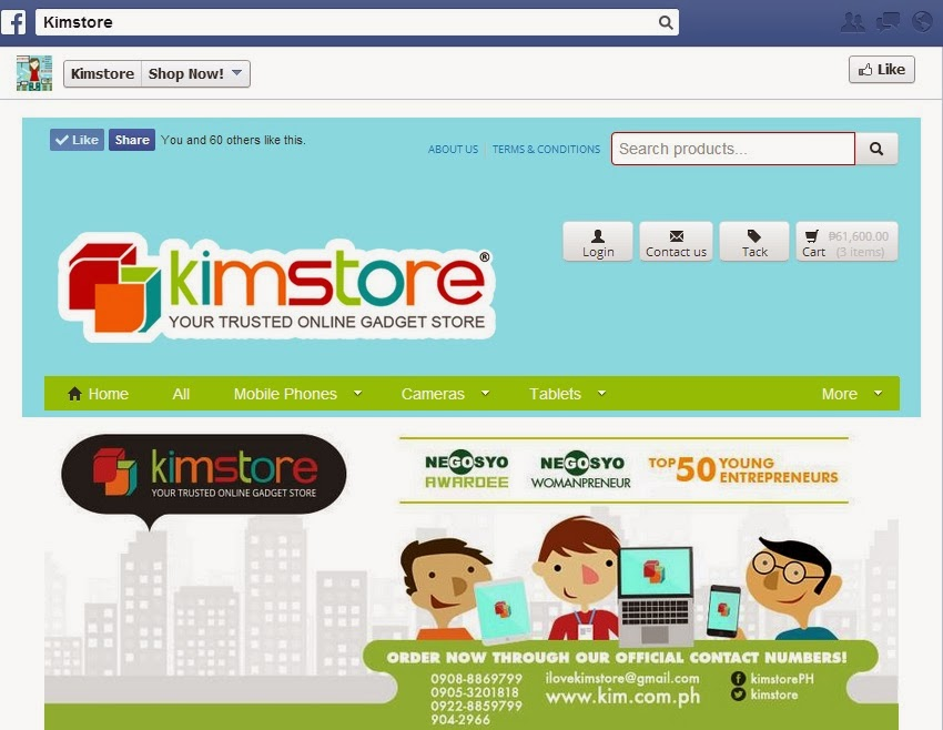 Kimstore Facebook