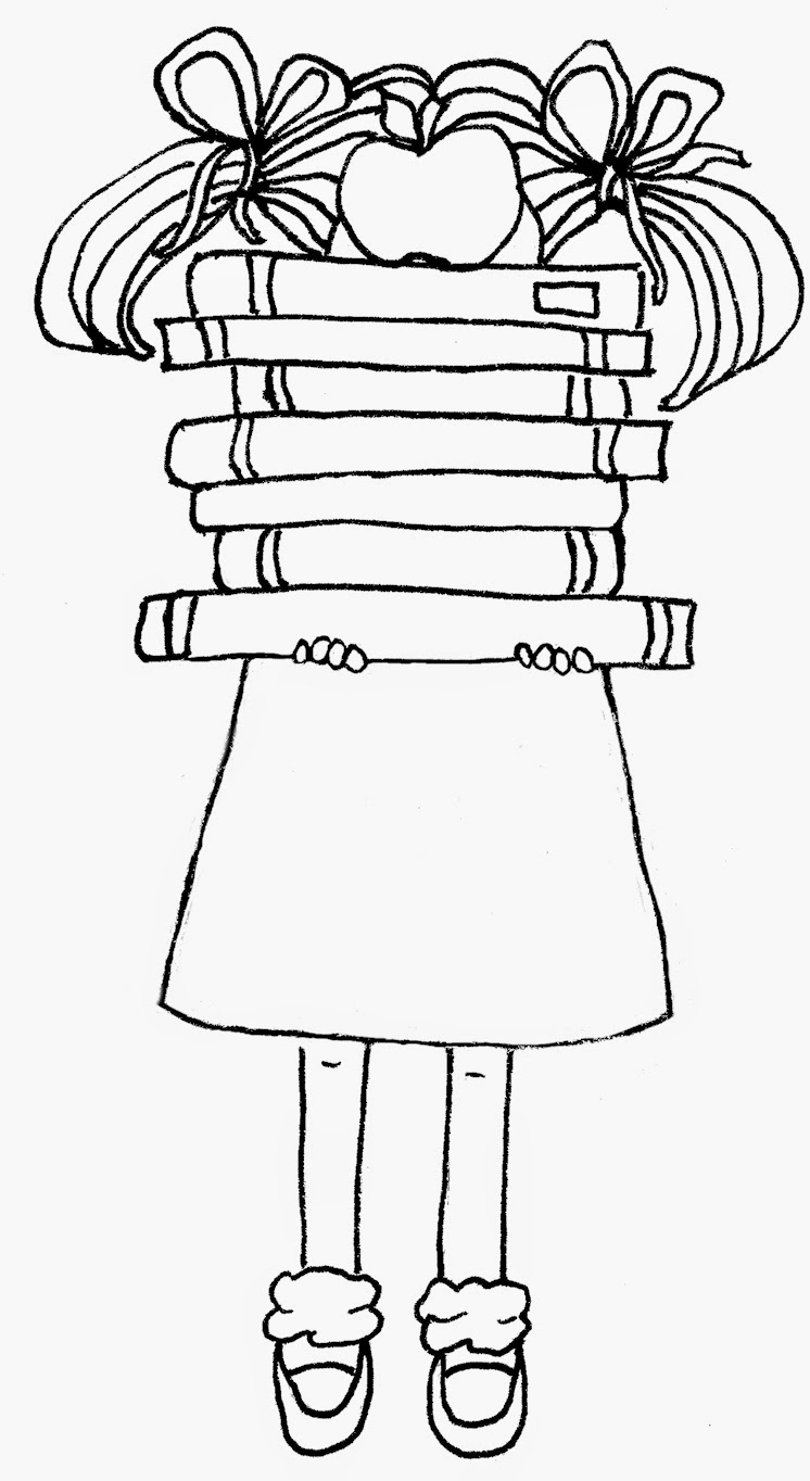 Back To School Girl Free Crudoodle Digital Stamp by Tori Beveridge