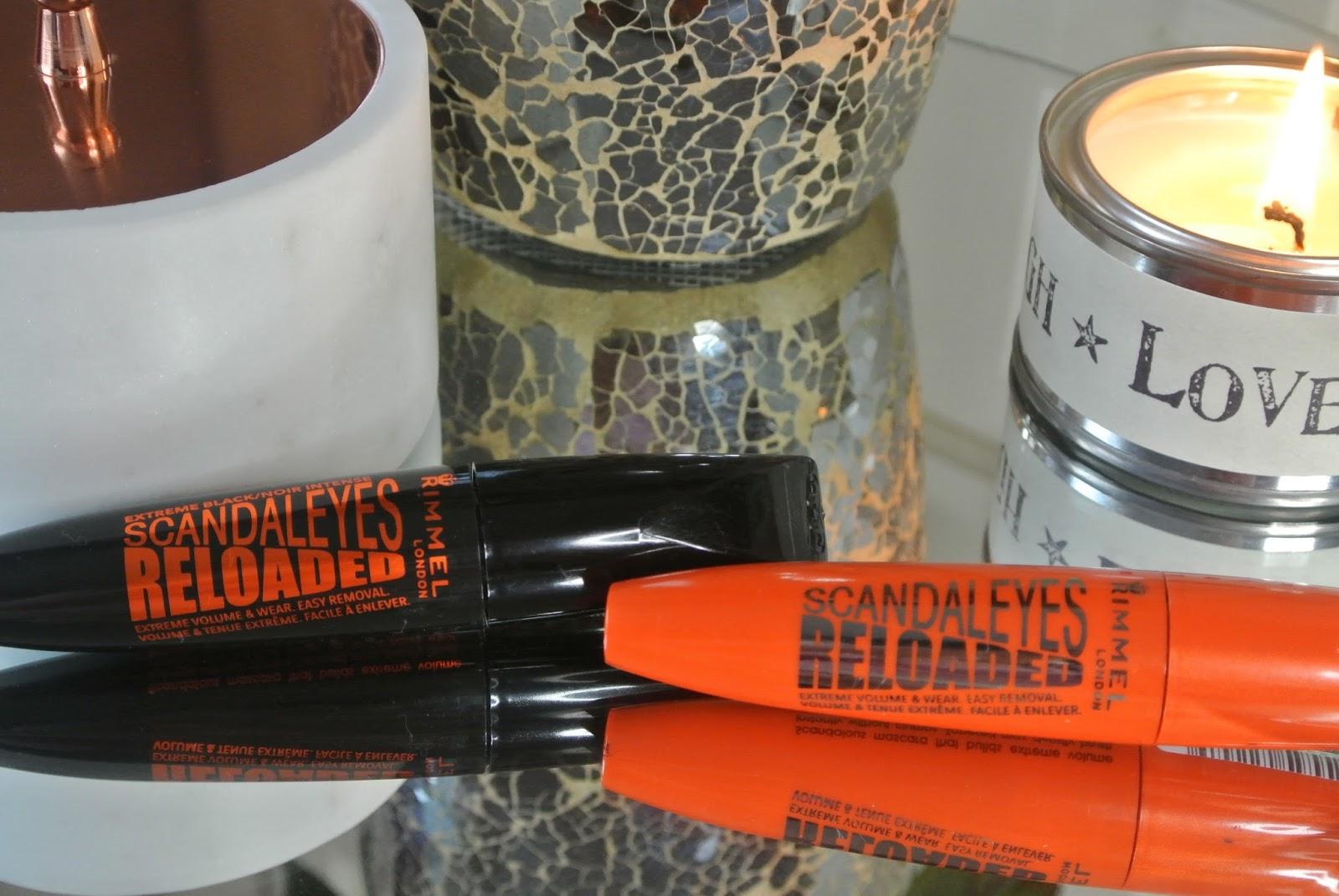 Rimmel Scandaleyes Reloaded Mascara in Black and Extreme Black Image