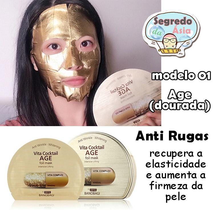Mascara Facial Coreana Folha De Estanho Anti Rugas Banobagi Vita