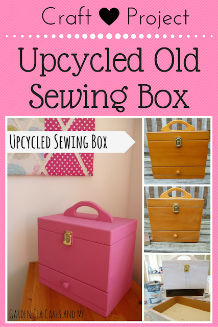 Craft Project idea Upcycle old sewing wooden box recycle