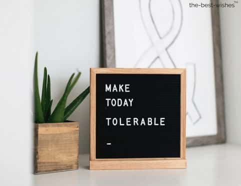 make today tolerable quote