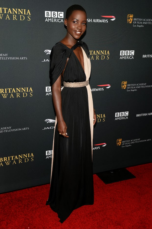 Lupita Nyong'o Dazzles in Fred Leighton Jewels at Britannia Awards 2013