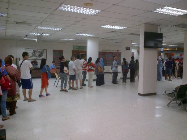 Antrian Nomor Antri di Lam Wah Ee Hospital