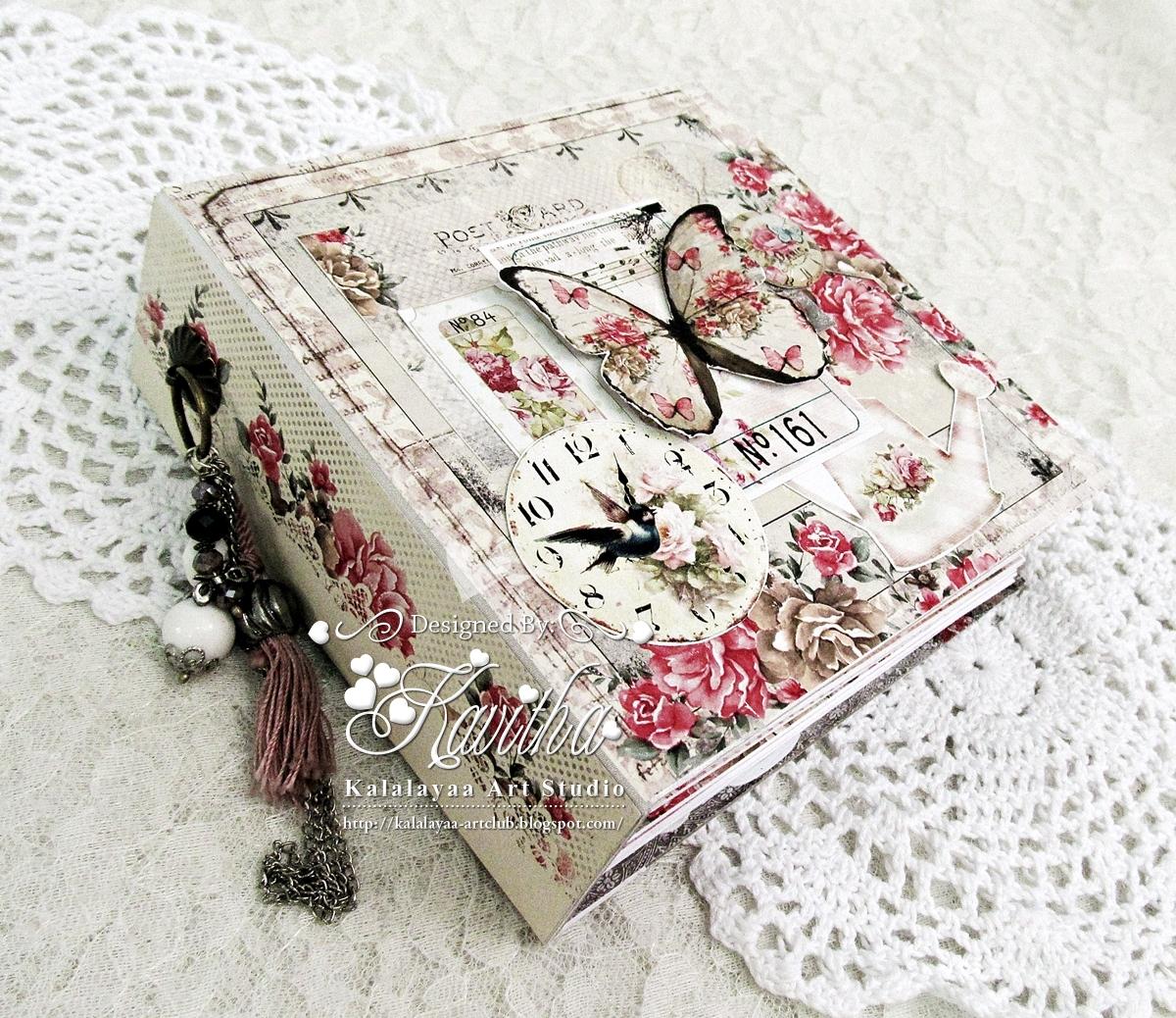 kalalayaa s art stuido romantic shabby chic mini album rh kalalayaa artclub blogspot com  shabby chic baby photo album