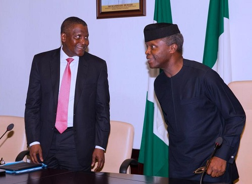 Osinbajo and Dangote