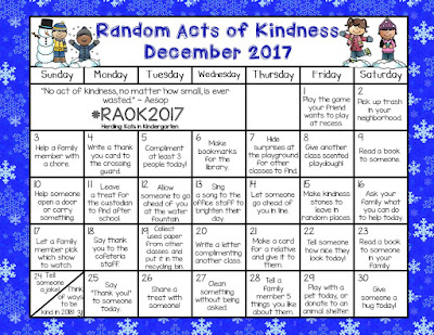 https://www.teacherspayteachers.com/Product/Random-Acts-Of-Kindness-Calendar-3516974
