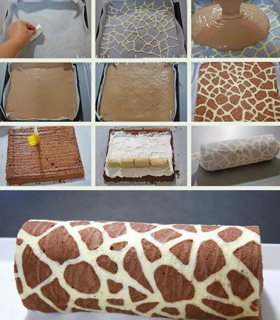 Zürafa Desenli Rulo Pasta nasıl yapılır
