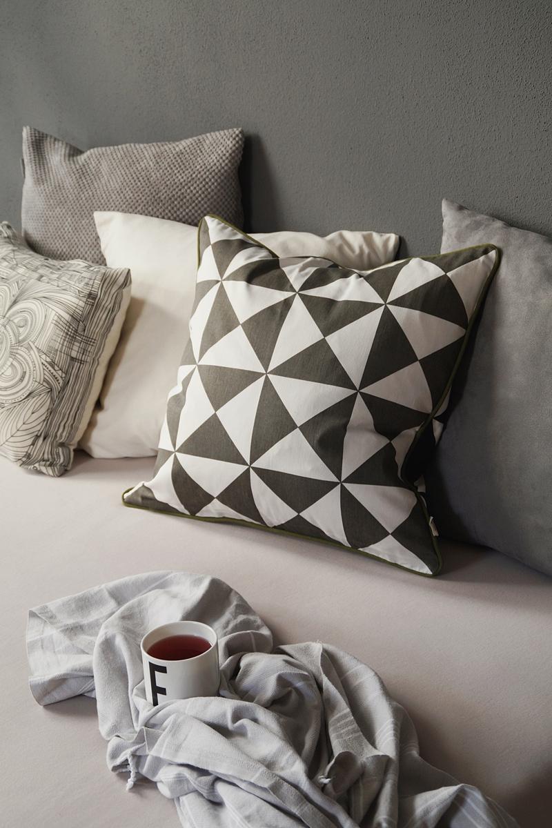 Grey and cozy bedroom