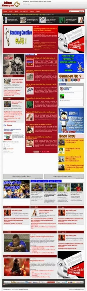 Idea Kompas Blogger Template