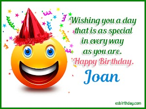 Happy Birthday Joan