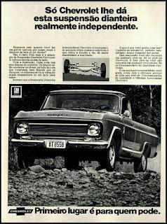Propaganda  Pick-up Chevrolet - 1972, Chevrolet década de 70, anos 70, GM, Oswaldo Hernandez, carros antigos,
