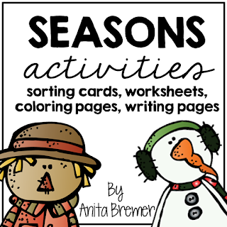 Activities to teach your students about the four seasons! Includes sorting cards, worksheets, coloring pages, and writing pages.