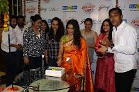 Marath Actrss Urmila Kanitkar Celetes Gudi Padwa in Orange Saree 11.JPG