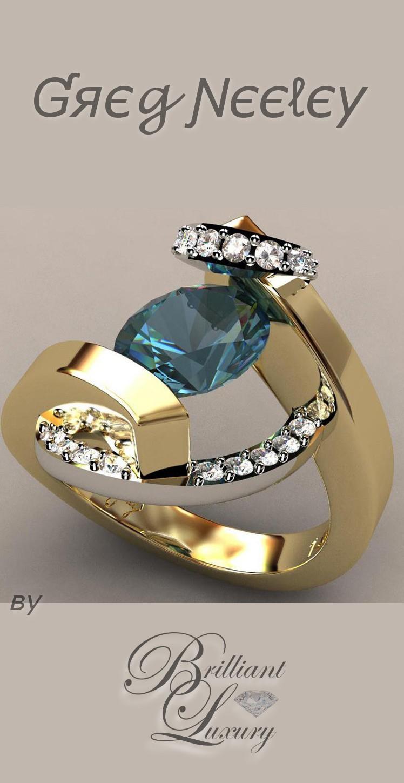 Brilliant Luxury ♦ Greg Neeley swirl wrap suspension set ladies ring