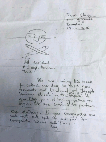robbery letter lagos